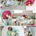 Color Palette: Pink, Teal and Green
