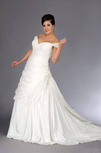 plus sized wedding dresses - fabric