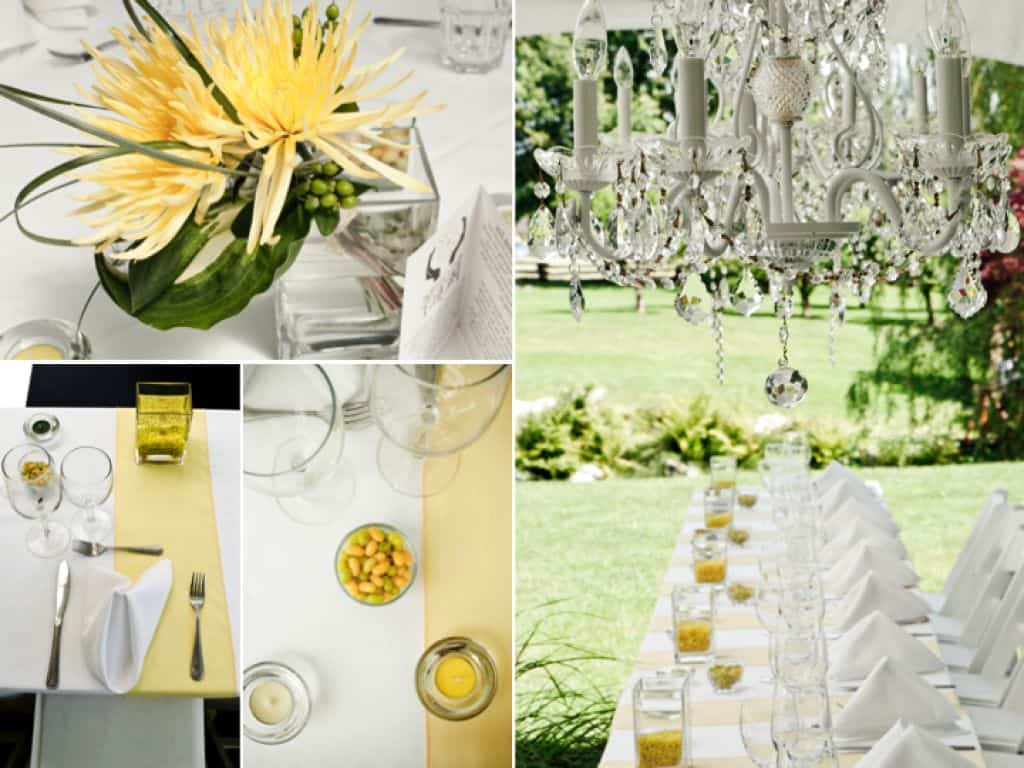 DIY Wedding Decorations For Every Budget - Modern outdoor summer wedding