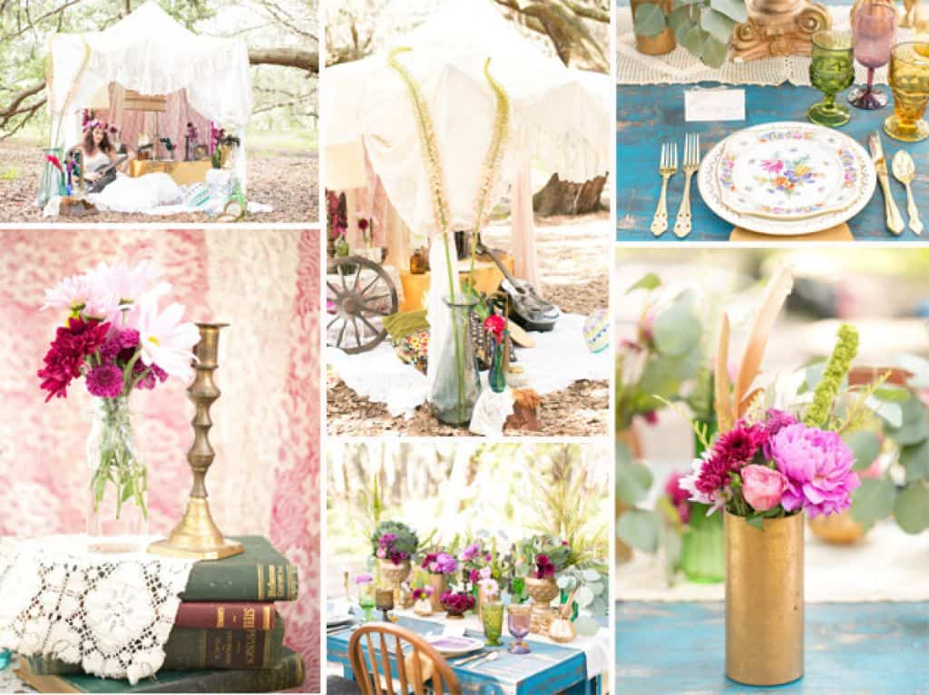 DIY Wedding Decorations For Every Budget - Bohemian style wedding