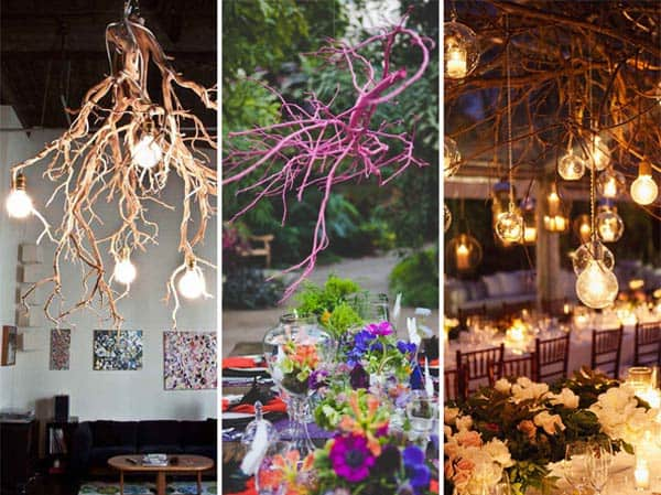 DIY Wedding Decorations For Every Budget - DIY Rustic Chandelier