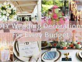 DIY Wedding decorations for every budget FEATURE