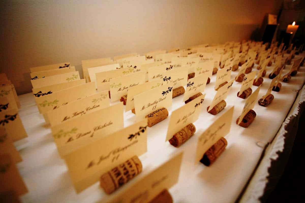 DIY Wedding Decorations For Every Budget - Wine Cork Card Holder