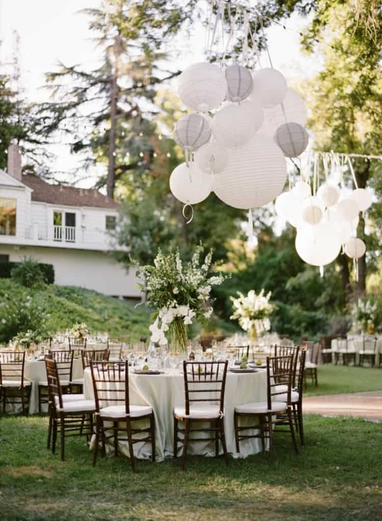 DIY Wedding Decorations For Every Budget - Backyard Reception