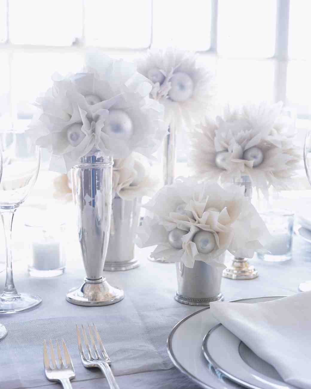 DIY Wedding Decorations For Every Budget - Paper flower decoration centerpiece