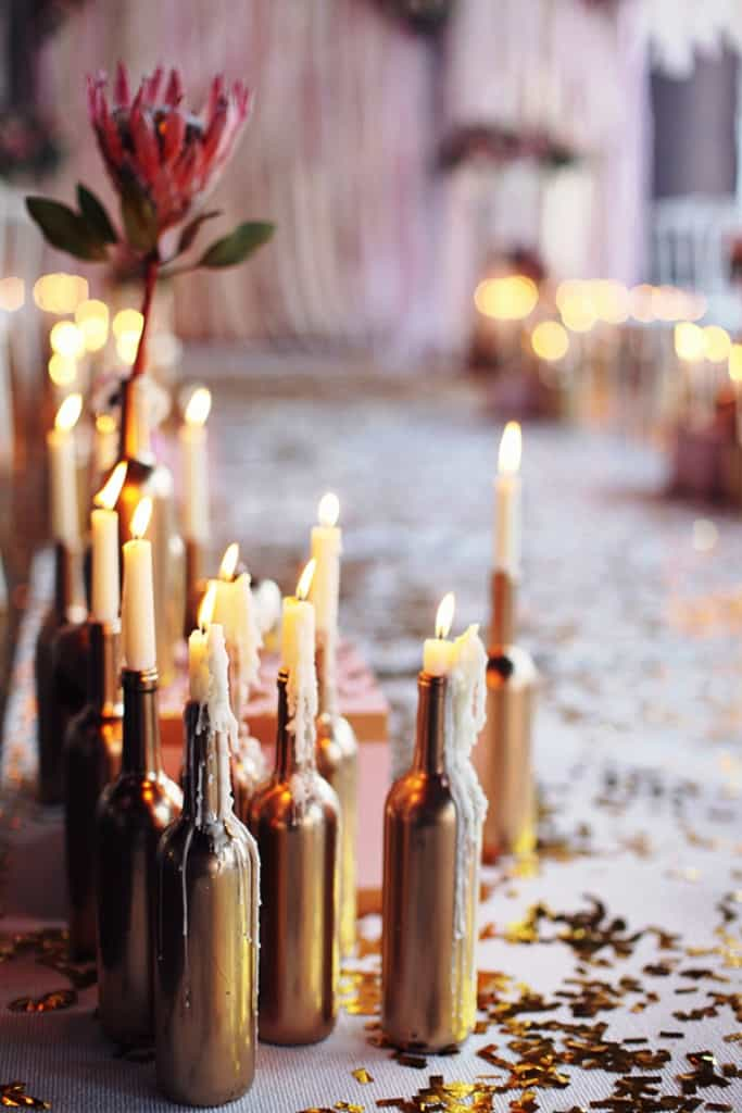 DIY Wedding Decorations For Every Budget - Romantic Bottle Lighting
