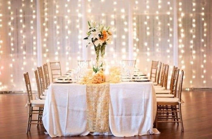 DIY Wedding Decorations For Every Budget - Waterfall Lighting