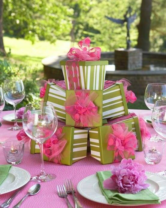 DIY Wedding Decorations For Every Budget - Unusual Box Centerpiece