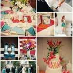 Color Palette: Orange, Pink and Turquoise