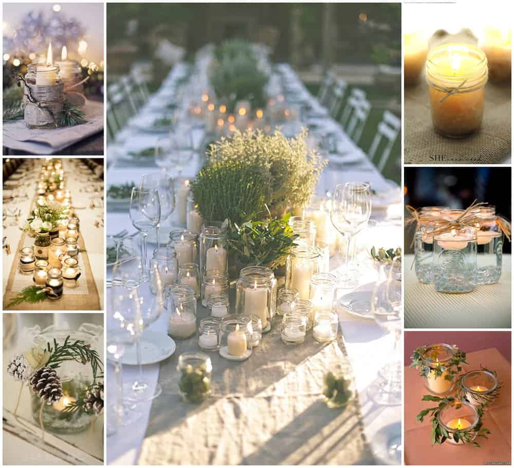 DIY Wedding Decorations For Every Budget - Mason jar centerpiece
