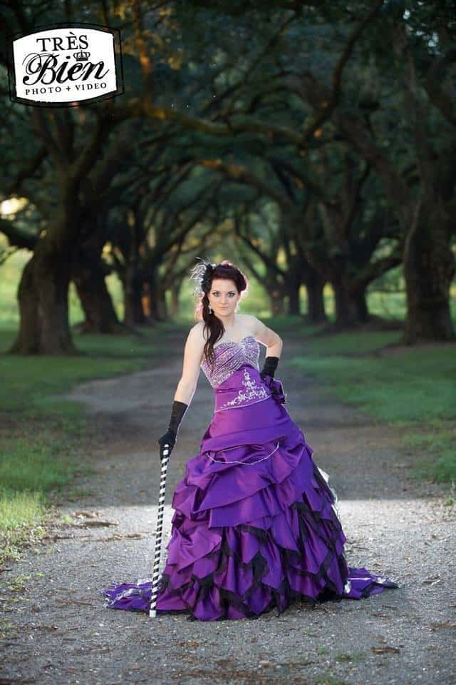 utterly different wedding dresses - gothic elegance