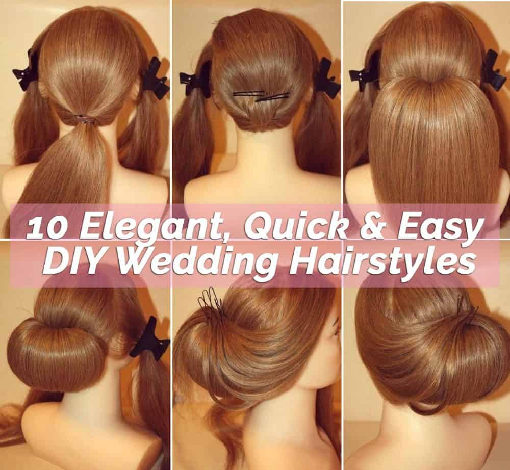 10 Elegant DIY Wedding Hairstyles