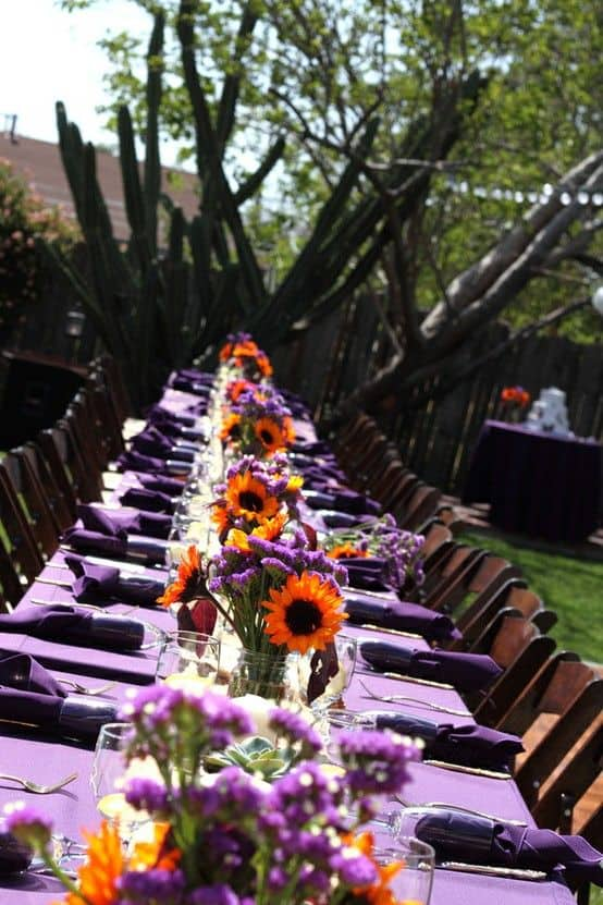 Fall Wedding Color Palettes - Purple paradise