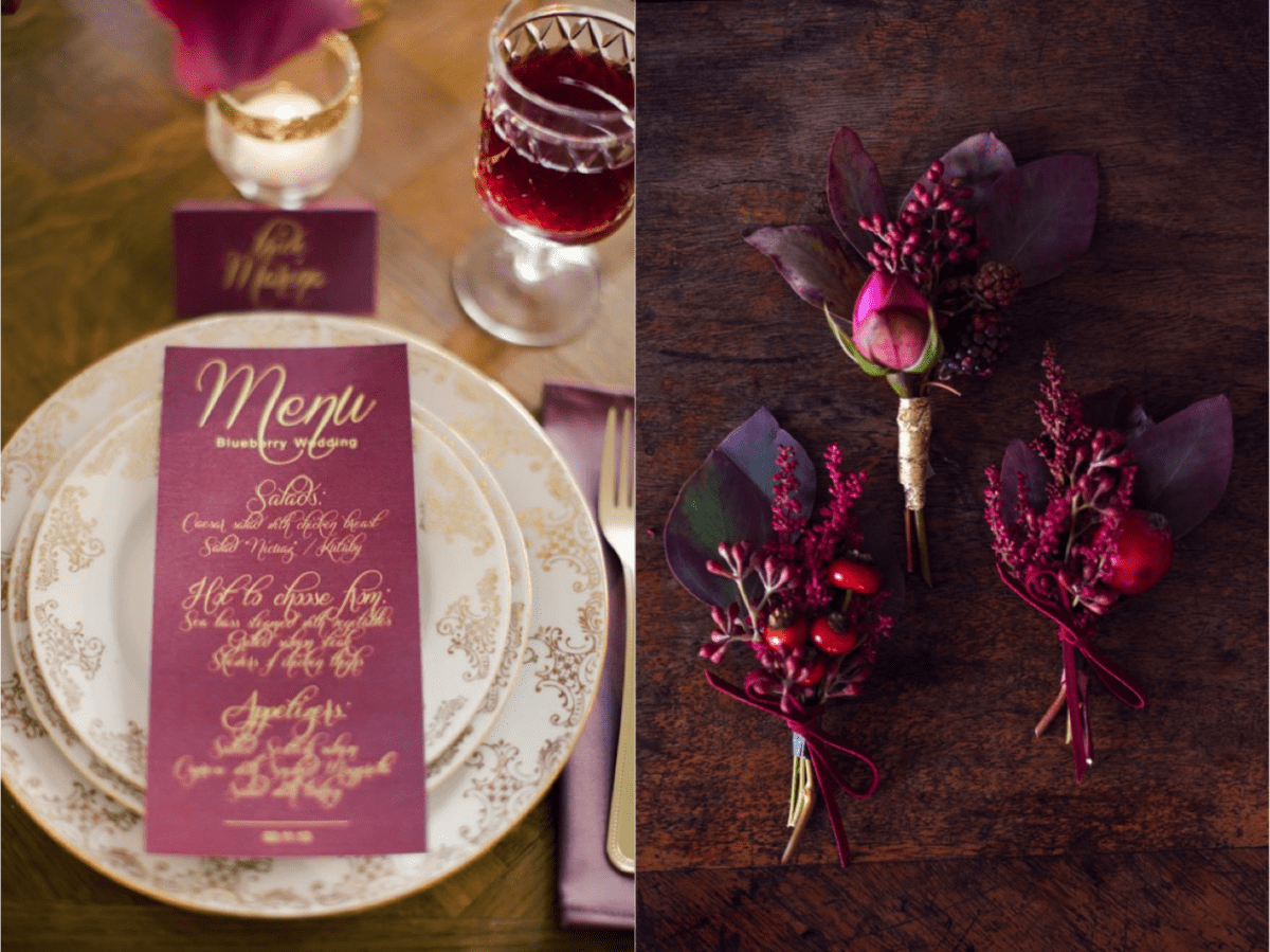 Fall Wedding Color Palettes - Fruit Nuances