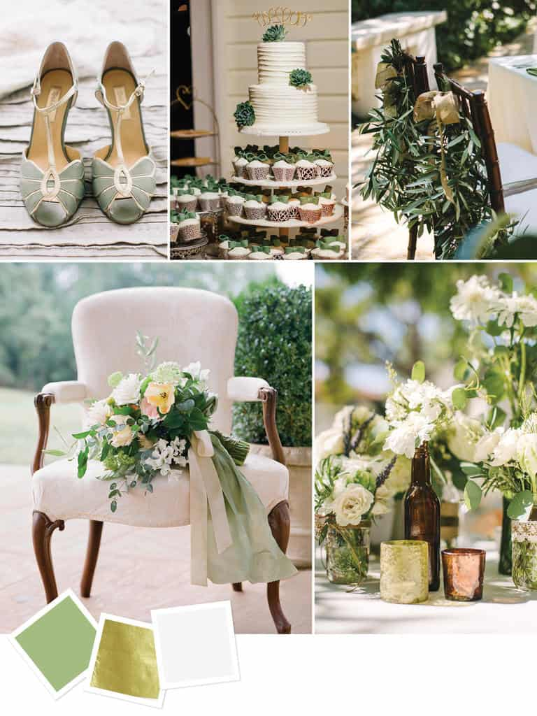 Fall Wedding Color Palettes - Pastel emerald