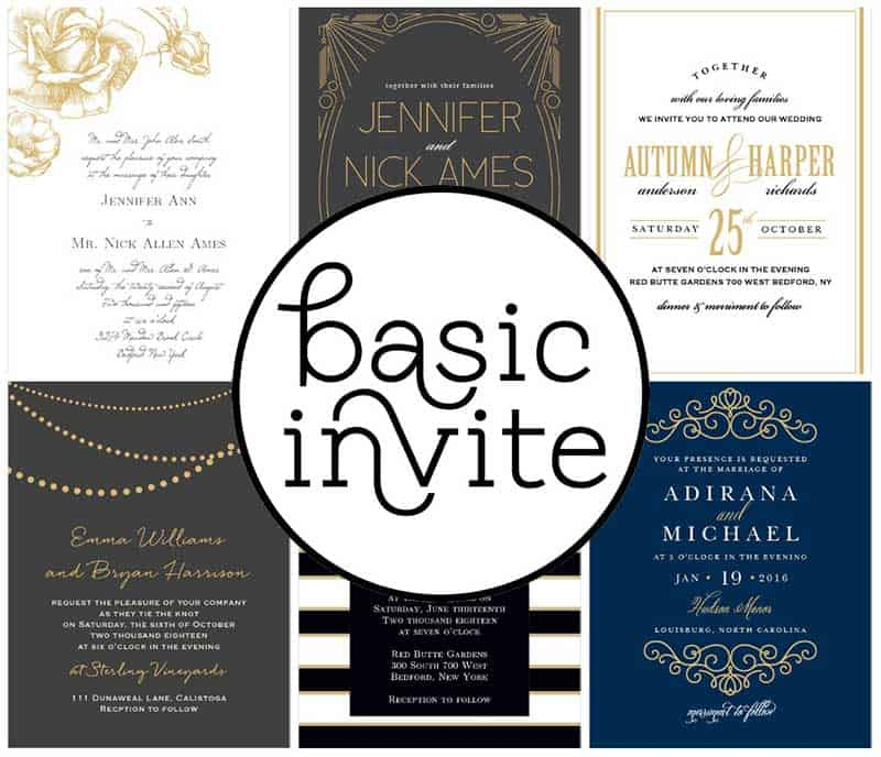 Gold Foil Wedding Invitations by Basic Invite