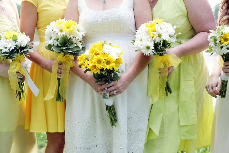 Casually Saying I Do in Yellow