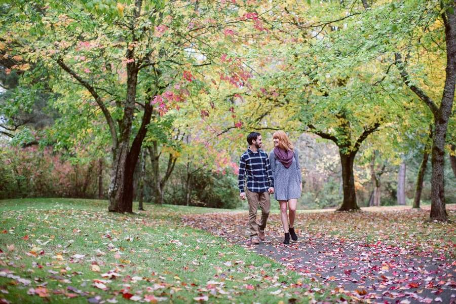 Fall Woodsy Engagement
