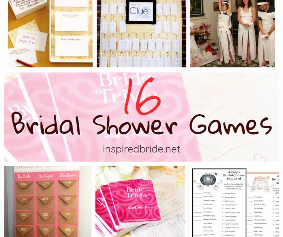 classic bridal shower games inspired bride