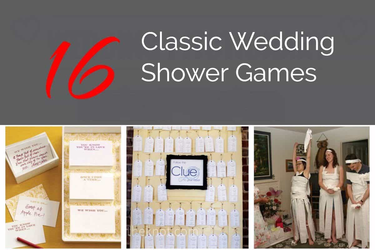 Classic Bridal Shower Games