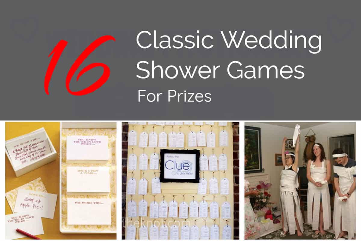 Classic Wedding Shower Games For Prizes