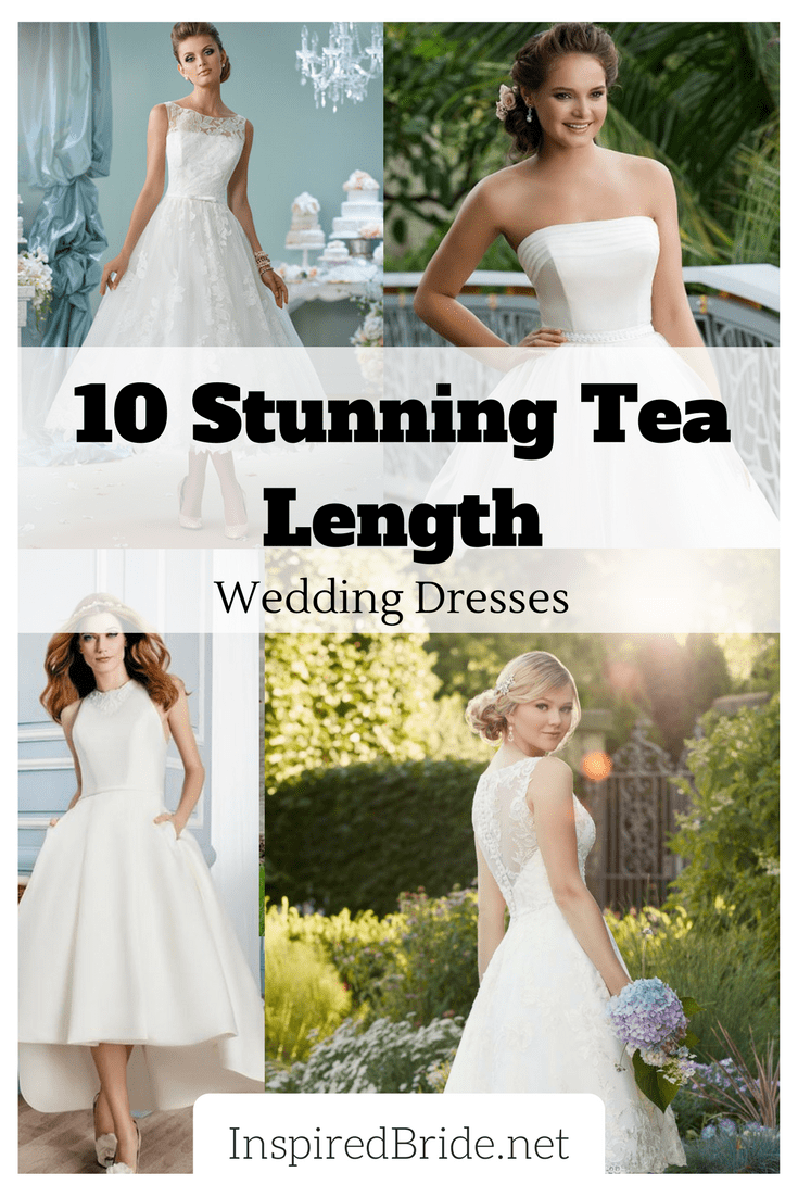 10 stunning tea length wedding dresses for 2018 inspired bride tea length wedding dresses are for those who love the vintage bridal look but what exactly is a tea length dress a tea length dress is a bit longer than ombrellifo Image collections