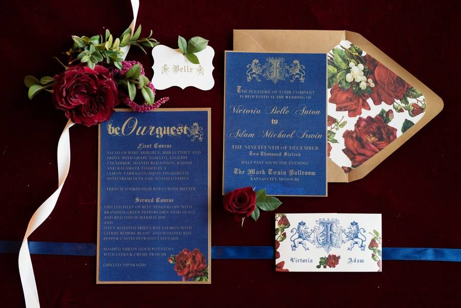 Beauty And The Beast Themed Wedding Invitations: Tale As Old As Time