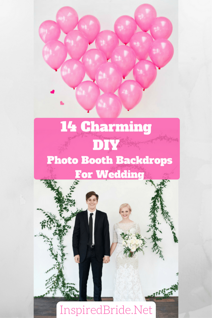 14 Charming DIY Photo Booth Backdrops For Wedding