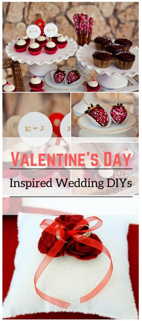 Valentine's Day-Inspired Wedding DIYs
