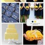 Color Palette: Navy, Yellow, White