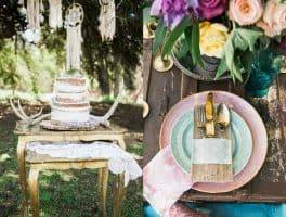 Cake and Table Setting