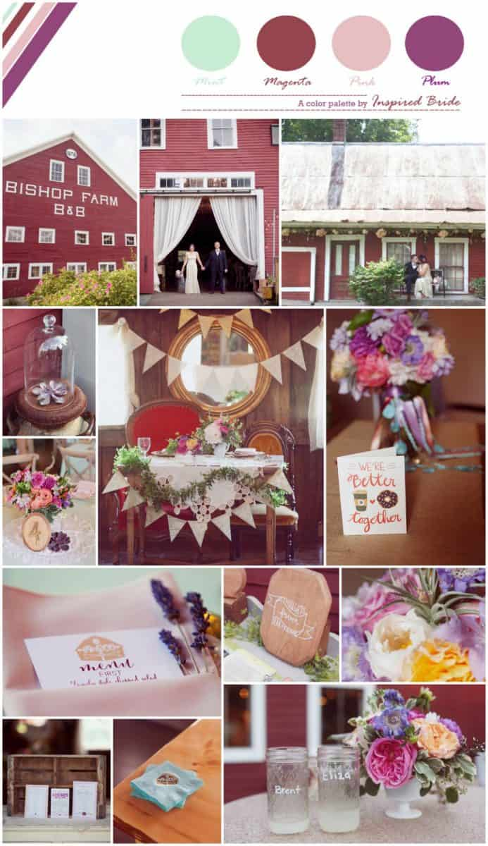 Rustic Plum and Gobstopper Pink Wedding