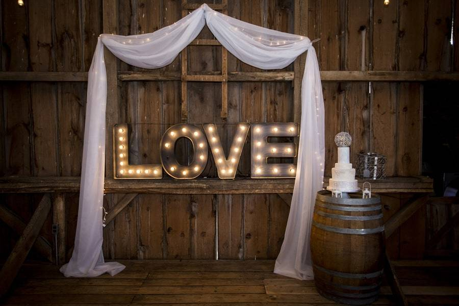 Glammed Up Barn Wedding