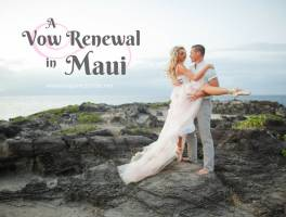 Vow Renewal in Maui