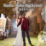 Rustic Boho Backyard DIY Wedding