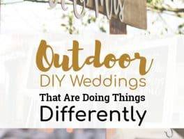 Outdoor DIY Weddings