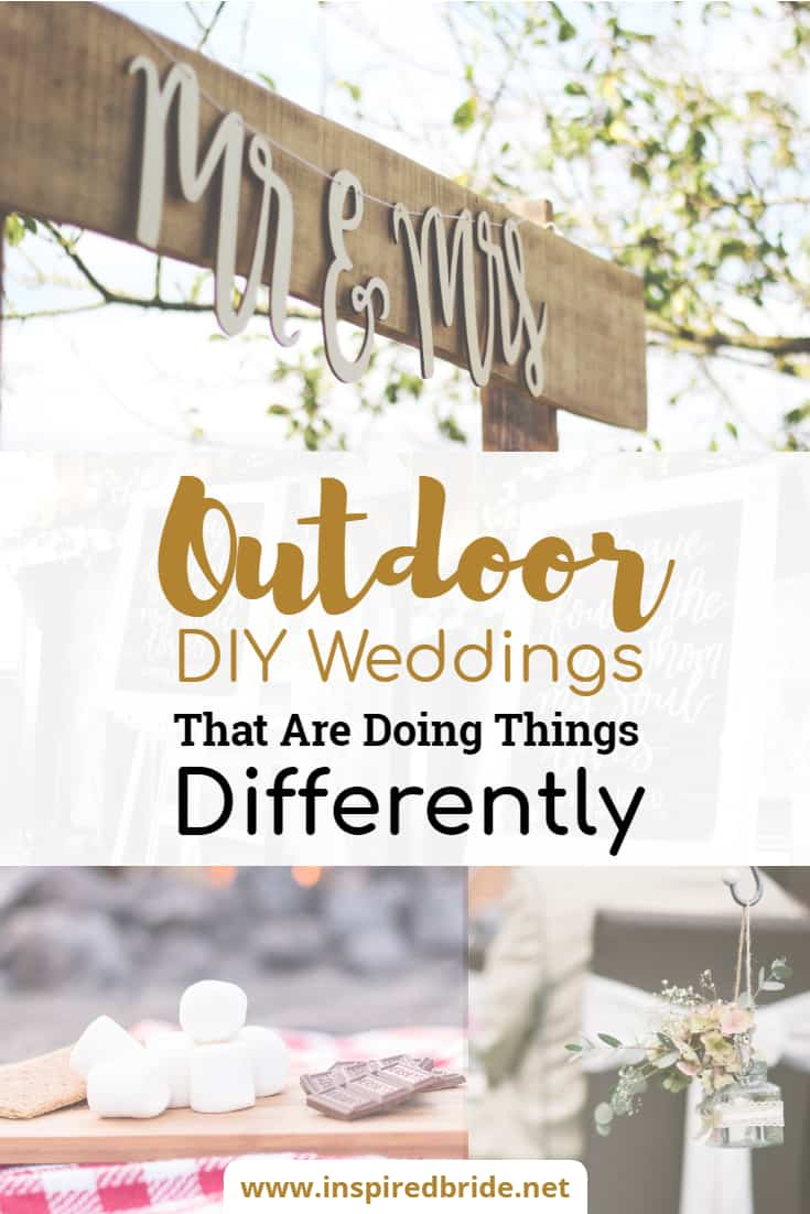 Outdoor Diy Weddings That Are Doing Things Differently Inspired Bride