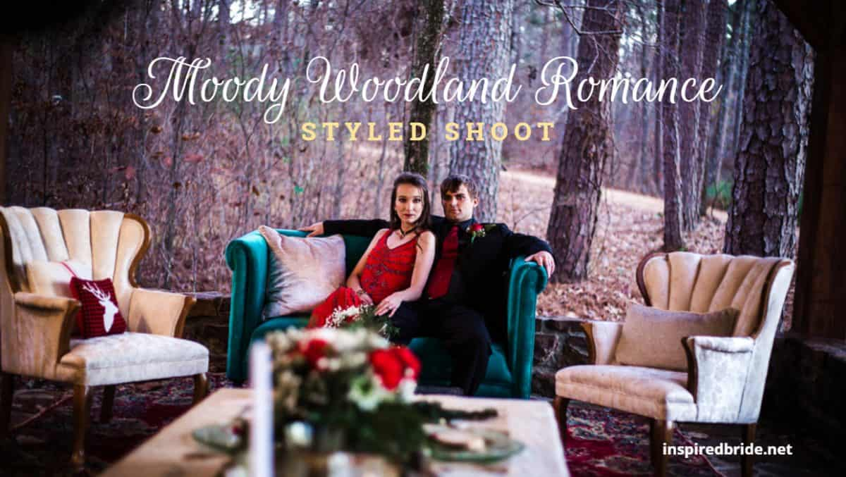 Moody Woodland Romance Styled Shoot