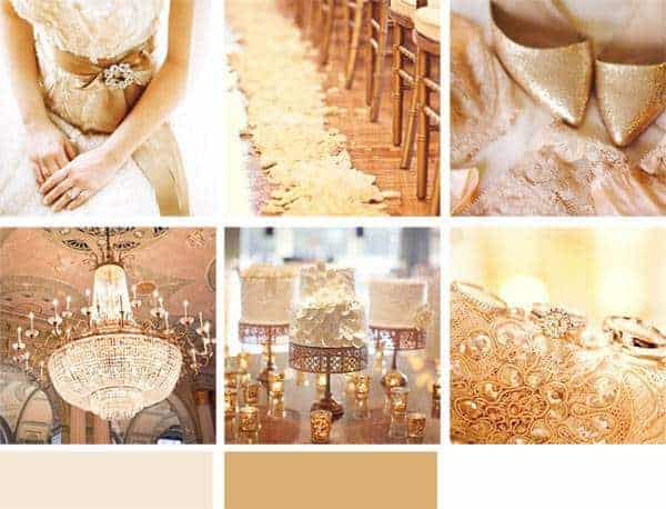 Wedding Color Palette: Gold - Inspired Bride