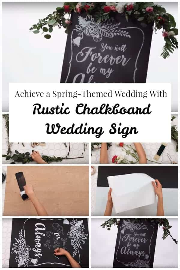Rustic Chalkboard Wedding Sign to Add that Country Vibe