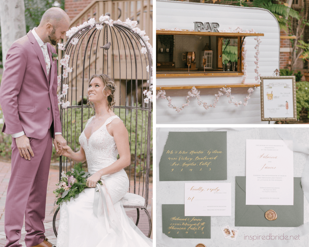 Styled Dusty Rose Rustic Wedding