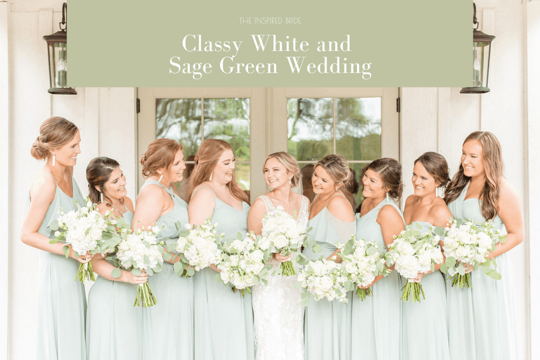 White and Sage Green Wedding