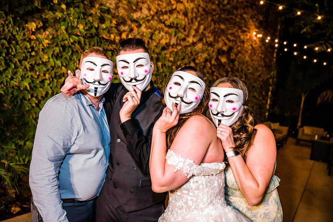 Guy Fawkes Themed Wedding