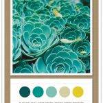 Color Card 058: Blue Fir, Teal, Soft Green, Wheat, Retro Mustard