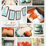 Blue Wedding Color Palette: Robin's Egg, White, Tangerine, Coral